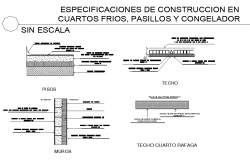 Without scale building material plan detail