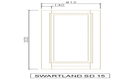 Wooden Door Block Elevation Design