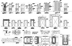 Wooden Door CAD Blocks