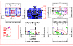 Wooden House Plan dwg file.