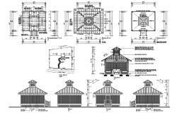 Wooden Pergola CAD Drawing