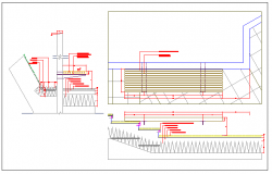 Wooden bank of garden architecture project dwg file