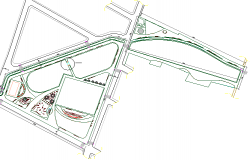 Wooden bridge over stream site plan details dwg file
