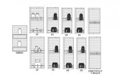 Wooden cabinet blocks for jar cad drawing details dwg file