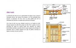 Wooden ceiling section and plan cad drawing details dwg file