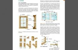 Wooden door elevation, parts and installation details dwg file