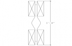Wooden support with metal joint with furniture view dwg file