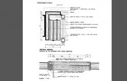 Wooden window and door installation details of roof house dwg file