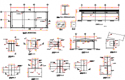 Work shop expansion constructive details dwg file