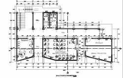 Working Commercial Layout plan detail dwg file