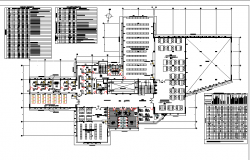Working Library plan dwg file