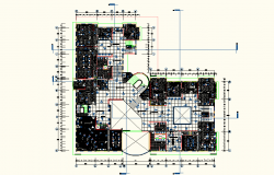 Working Office plan detail dwg file
