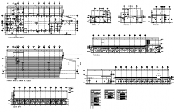 Working Plan, elevation and section detail dwg file
