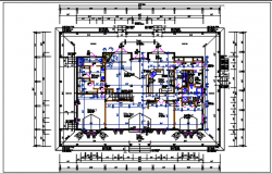 Working Residential house plan detail, dimension & furnisher in room detail dwg file