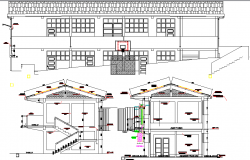Working commercial section and elevation detail dwg file