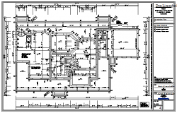 Working drawing of bungalow design drawing