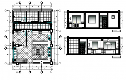 Working drawing of kitchen.