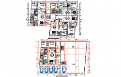 Working family house plan detail dwg file