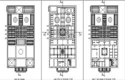 Working floor plans and elevation detail of hamam.