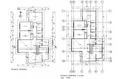 Working house plan detail