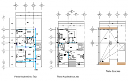 Working house plan detail autocad fil