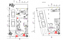 Working house plan detail dwg file