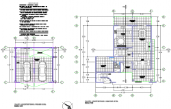 Working house plan dwg file
