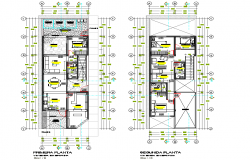 Working house planing autocad file