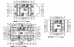 Working mall and apartments plan detail layout file