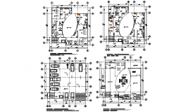 Working office layout dwg file
