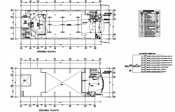 Working plan and beam section detail dwg file