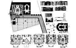 Working plan of Villa with elevation in AutoCAD