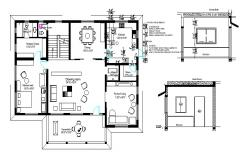 Working plan of the house with Detail dimension in AutoCAD