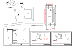 Workshop plan and elevation detail dwg file