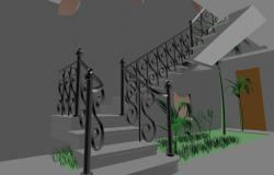 Wrought Iron stair 3d design