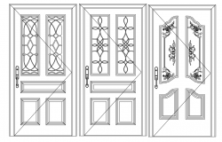 Wrought iron door cad block dwg file