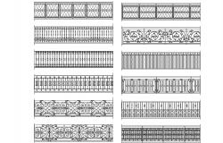 Wrought iron railings elevation