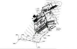 Zacatlan industrial plant distribution plan cad drawing details dwg file
