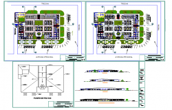 Zonal market design autocad drawing