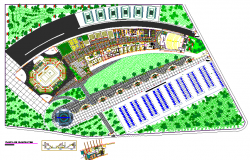 recreation center plan & sport centre Lay-out