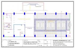 False Ceiling design Lay-out