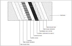 air chamber wall structure section view detail dwg file