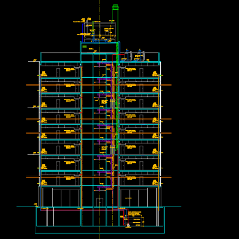 Air conditioning section plan autocad file