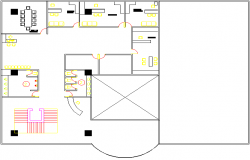 architectural plan of  a bank dwg file