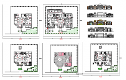 School Hostel Building Lay-out & Elevation design
