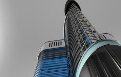 Modern hotel 3d