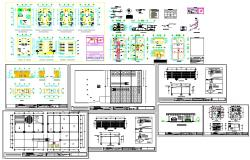 Industrial plant design autocad drawing