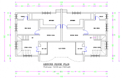 simple twin house detail plan