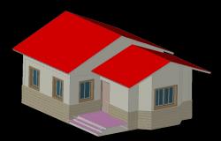 3d Single House