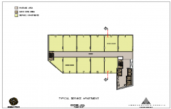 Service Apartment Plan